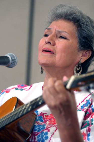 Carmencristina Moreno, 2003 National Heritage Fellowship Concert, Arlington, Virginia, photograph by Jim Saah, courtesy National Endowment for the Arts