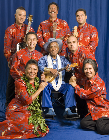 From left (top): Akada Kaleo, Lena Na'ope, Kai Olohai Smith; (middle): Hoapili Byres-Na'ope, George Na'ope, Noeau Kalima; (bottom): Iwalani Kalima, Nani Na'ope, Bethesda, Maryland, 2006, photograph by Alan Govenar