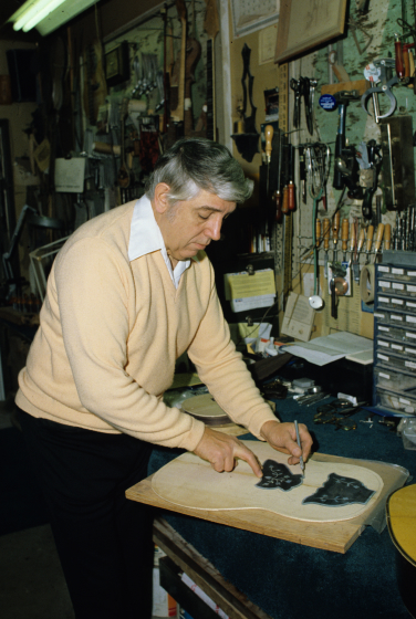 Milan Opacich in his workshop, courtesy Milan Opacich