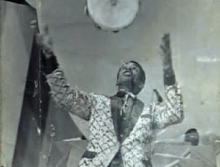 Carlinhos Pandeiro de Ouro competing for the Golden Tambourine award, Brazil, 1966, courtesy Carlinhos Pandeiro de Ouro