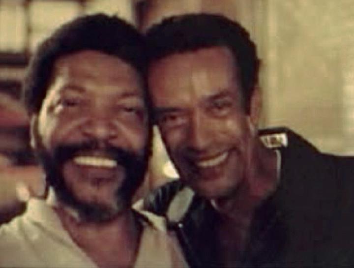 Carlinhos Pandeiro de Ouro and a friend, courtesy Carlinhos Pandeiro de Ouro
