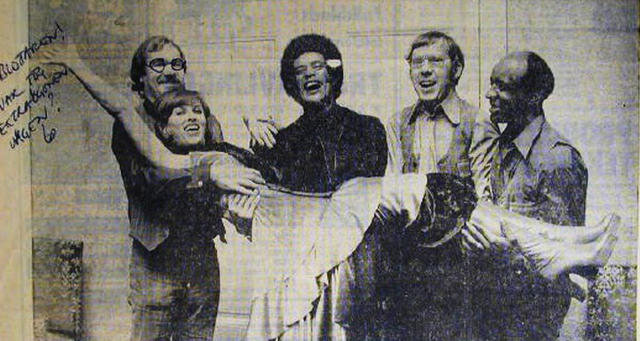 Carlinhos Pandeiro de Ouro with Sylvia Vrethammar, Ed Thigpen and fellow musicians, Sweden, 1974, courtesy Carlinhos Pandeiro de Ouro