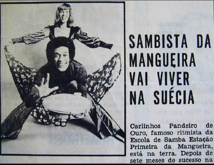 Carlinhos Pandeiro de Ouro, news article about Sylvia's Samba Show, Sweden, 1973, courtesy Carlinhos Pandeiro de Ouro