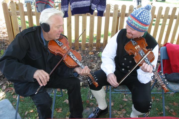 Ron Poast (left) playing at Mount Horeb, Wisconsin, courtesy Ron Poast