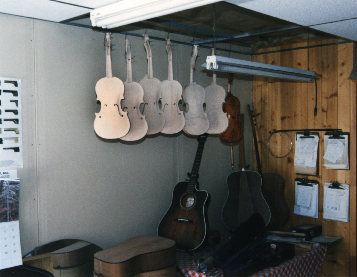Ron Poast's workshop, courtesy Ron Poast