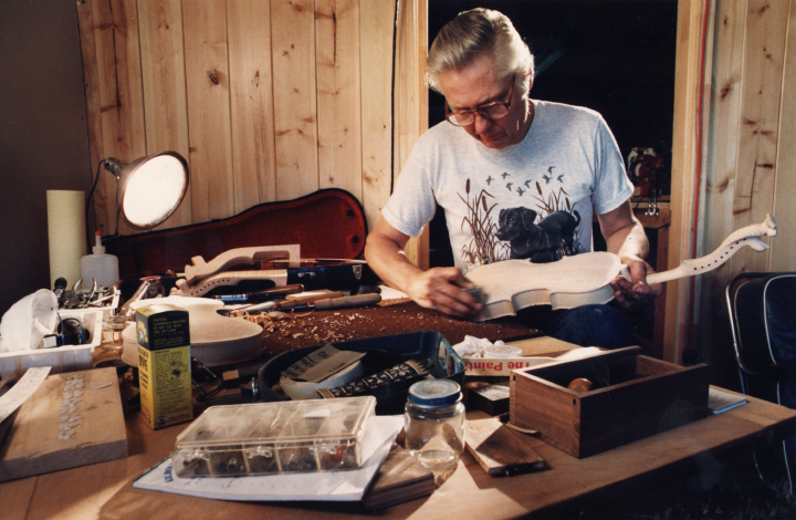 Ron Poast at work in his shop, courtesy Ron Poast