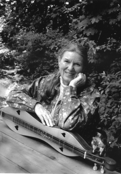 Kentucky-born Jean Ritchie was one of the best-known American folk musicians. But she was no purist, also having recorded with pedal steel guitar and amplified instruments. She liked to teach by example and advised people, 'Use music to accompany your lives but not to let it take over.' Courtesy National Endowment for the Arts