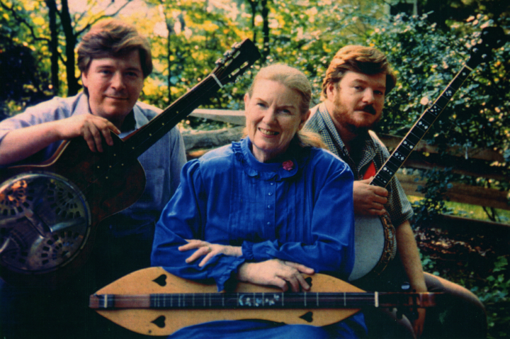 Album cover for *Mountain Born*, Jean Ritchie and Sons, now Greenhays CD 70725, photograph by George Pickow, courtesy Jean Ritchie and George Pickow