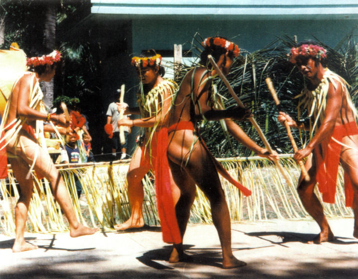 Carolinian stick dancers, courtesy National Endowment for the Arts