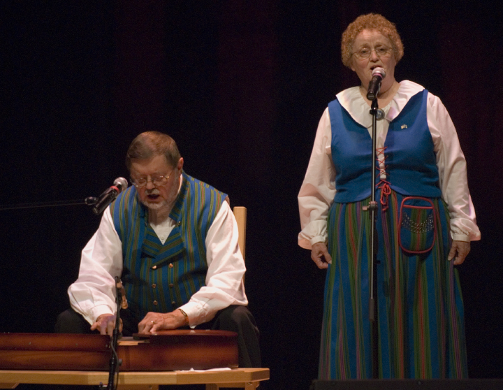 Wilho Saari and his wife, Kaisa Saari, 2006 National Heritage Fellowship Concert, Strathmore Music Center, Bethesda, Maryland, photograph by Alan Hatchett