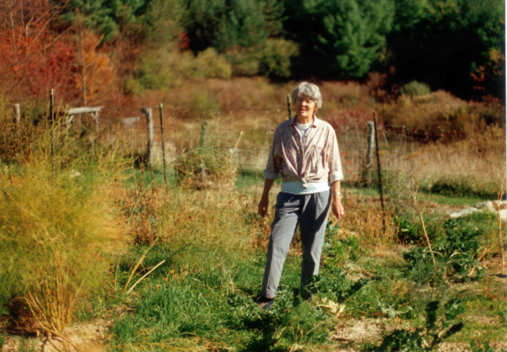 Nancy Sweezy in her garden in Troutdale, Virginia, ca. mid-1980s, courtesy Nancy Sweezy