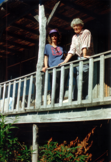 Nancy Sweezy with daughter Martha Sweezy.  Troutdale, Virginia, ca. mid-1980s, courtesy Nancy Sweezy