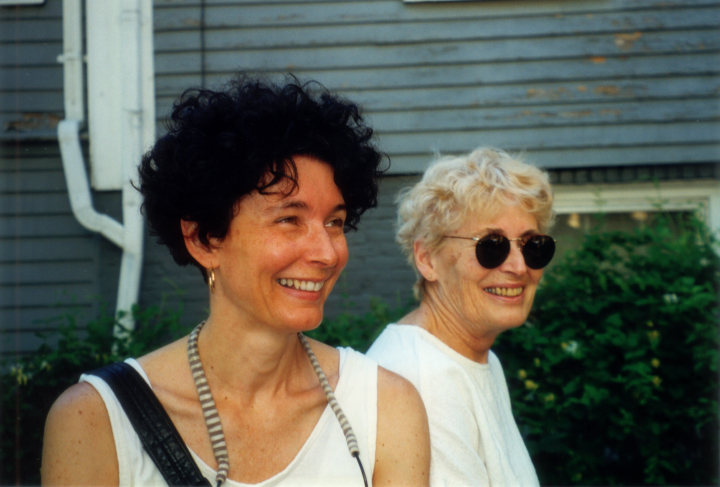 Nancy Sweezy with her daughter Martha Sweezy in Arlington, Massachusetts, ca. late 1990s, courtesy Nancy Sweezy