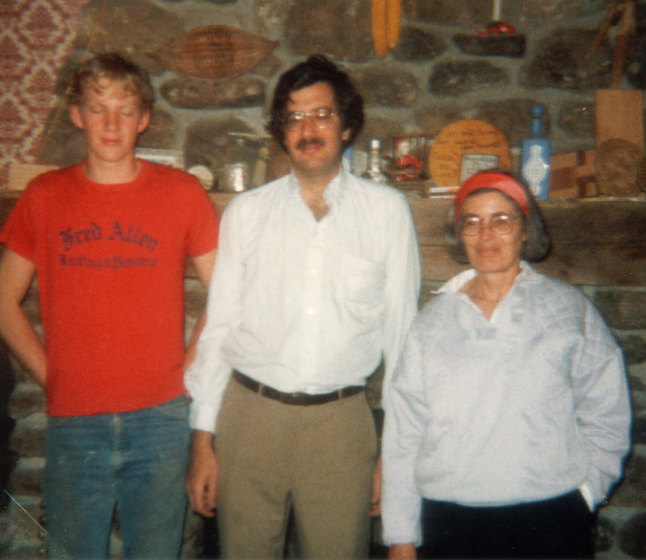 Nancy Sweezy with Robert Barron, director of the folk arts program of the New York State Council on the Arts and the son of a fellow artisan, National Endowment for the Arts site visit, Upstate New York, ca. mid-1980s, courtesy Nancy Sweezy