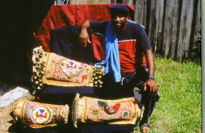 *Bantes* (drum covers) made by Ezequiel Torres, courtesy National Endowment for the Arts