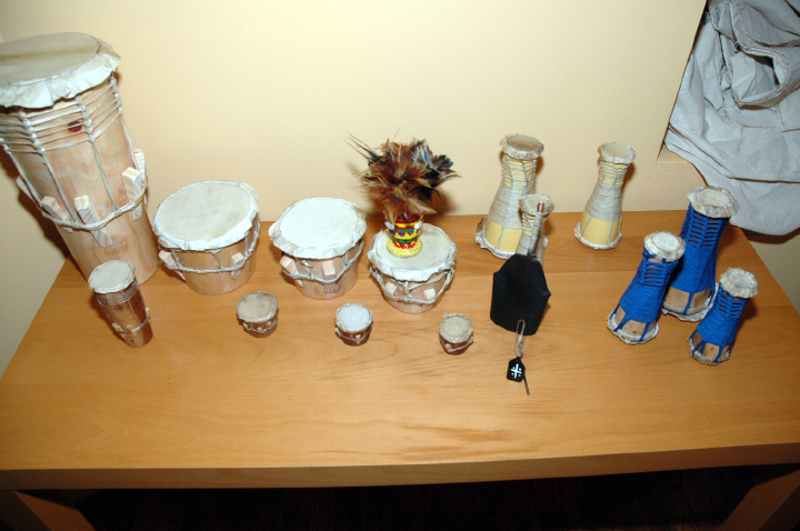 Drums made by Ezequiel Torres, courtesy National Endowment for the Arts