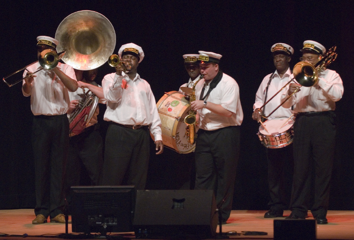 The Treme Brass Band, 2006 National Heritage Fellowship Concert, Strathmore Music Center, North Bethesda, Maryland, photograph by Alan Hatchett