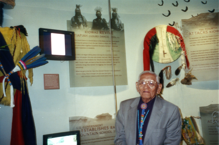 Fred Tsoodle, community curator, at the National Museum of the American Indian, Washington D.C., 2004, courtesy Fred Tsoodle