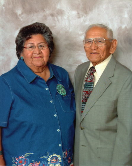 Fred and Mary Ruth Tsoodle were both full-blooded Kiowa Indians. Courtesy Fred Tsoodle