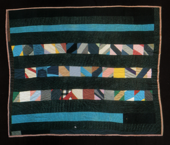 "'String Strip,' pieced by Arbie Williams, quilted by Irene Bankhead, Oakland, California, 1991, 79""x91"", courtesy Eli Leon"