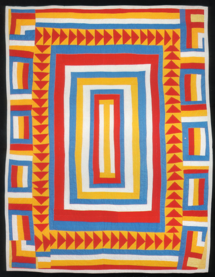 'Medallion,' pieced by Arbie Williams, restructured and quilted by Willia Ette Graham, Oakland, California, 1987, courtesy Eli Leon