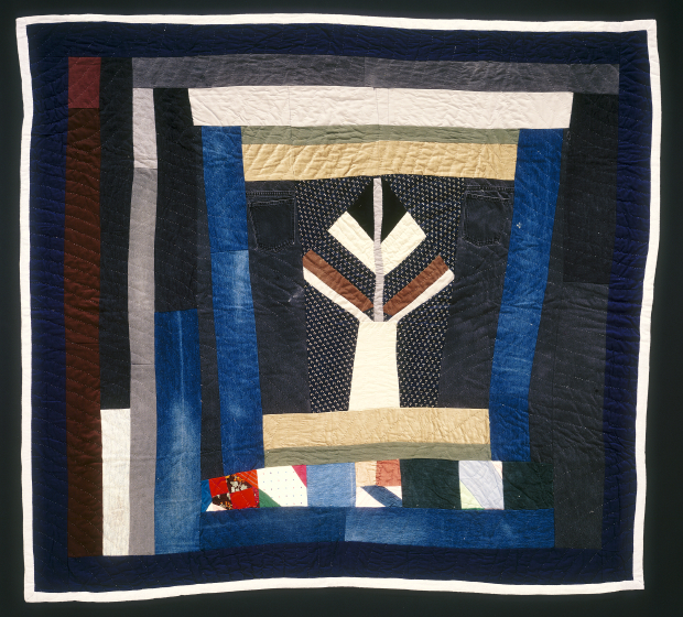 'Tree with Flower Pot,' pieced by Arbie Williams, quilted by Irene Bankhead, 1991, courtesy Eli Leon