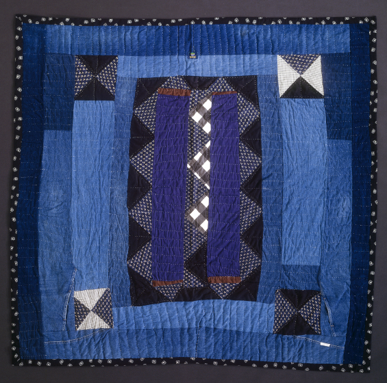 'Triangle Strip Medallion,' pieced by Arbie Williams, quilted by Willia Ette Graham and Johnnie Wade, 1991, courtesy Eli Leon