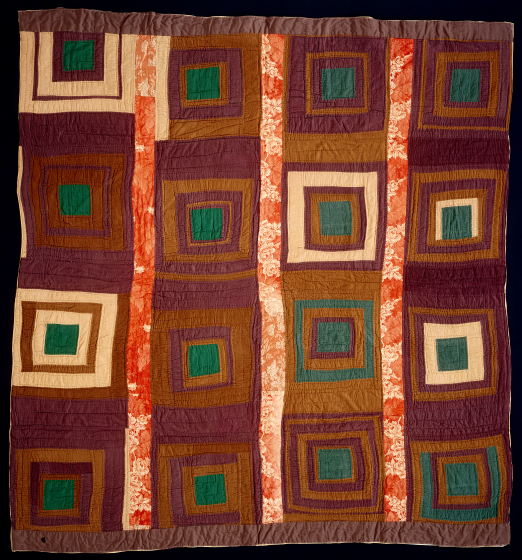 'Square-in-a-square,' pieced by Arbie Williams, Oakland, California, 1980, quilted by Willia Ette Graham, Oakland, California, 1984, courtesy Eli Leon