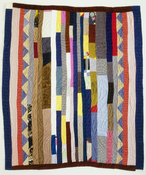 "'Strip,' pieced by Arbie Williams, quilted by Rose R. McDowell, Oakland, California, 1993, 92""x76"", courtesy Eli Leon"