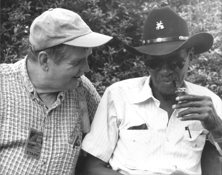 "Joseph T. Wilson (left) with Clarence ""Gatemouth"" Brown, July 4, 1997, photograph by Michael G. Stewart, courtesy National Council for the Traditional Arts"